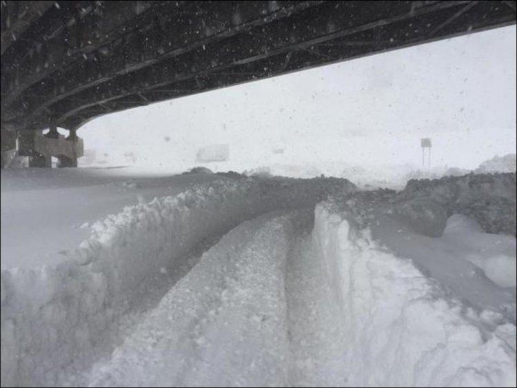 Сильнейший снегопад в США