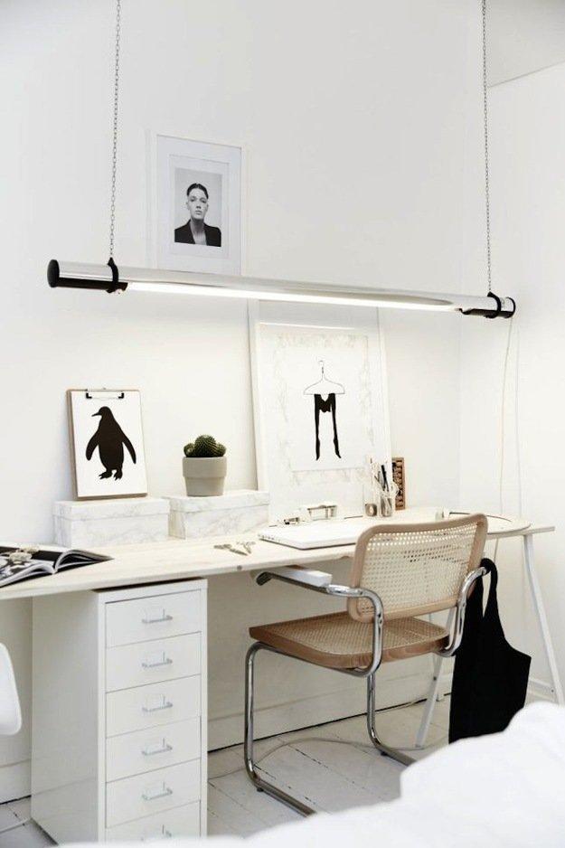 Дизайнерские рабочие места в скандинавском стиле