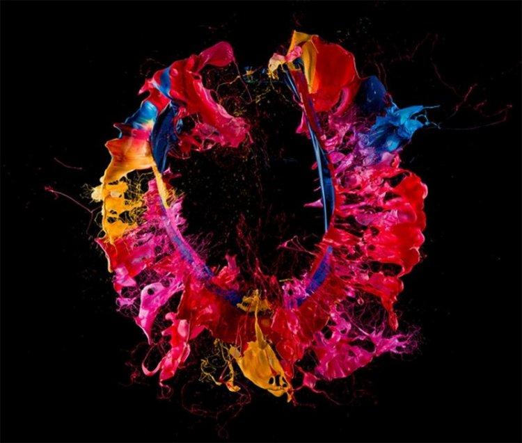 Картины из железа в магнитном поле
