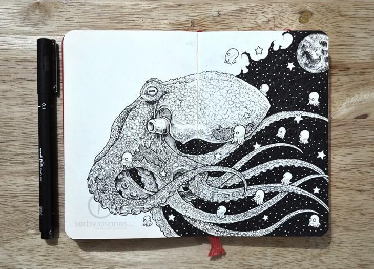 Детализированные рисунки от Керби Розанеса