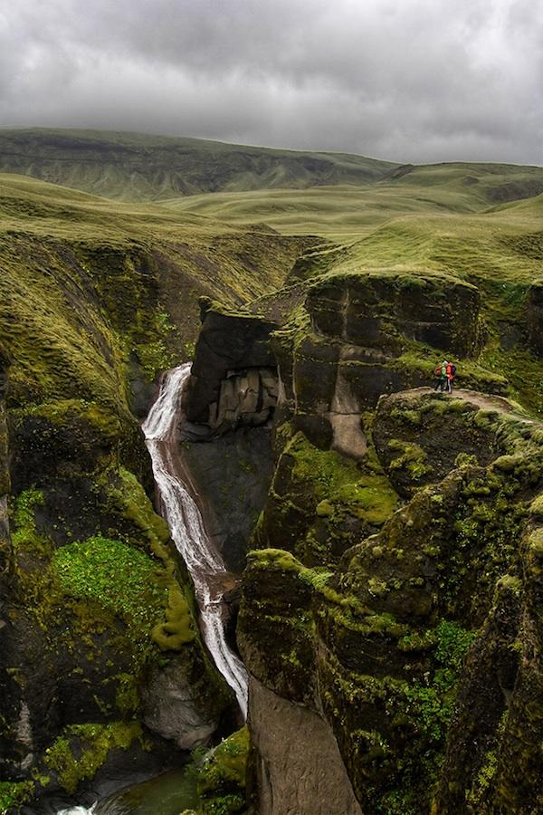 Прекрасный каньон Fjadrargljufur