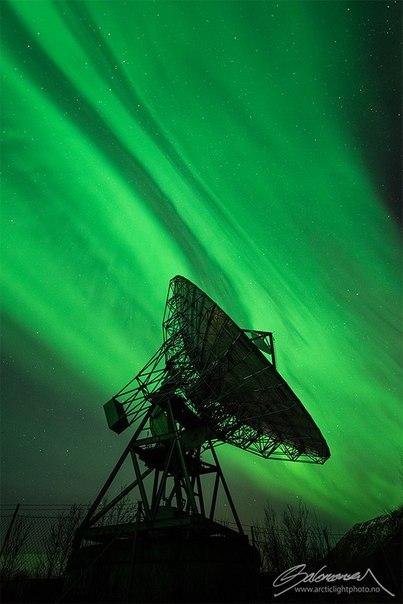 Мощные северные сияния в Норвегии