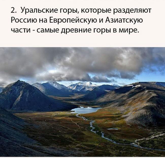 Подборка интересных фактов о России