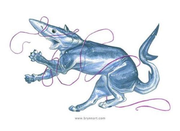 Коты-акулы художника Бринна Метени