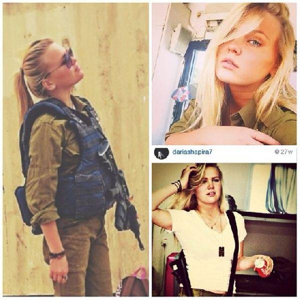 Красивые девушки - военнослужащие израильской армии