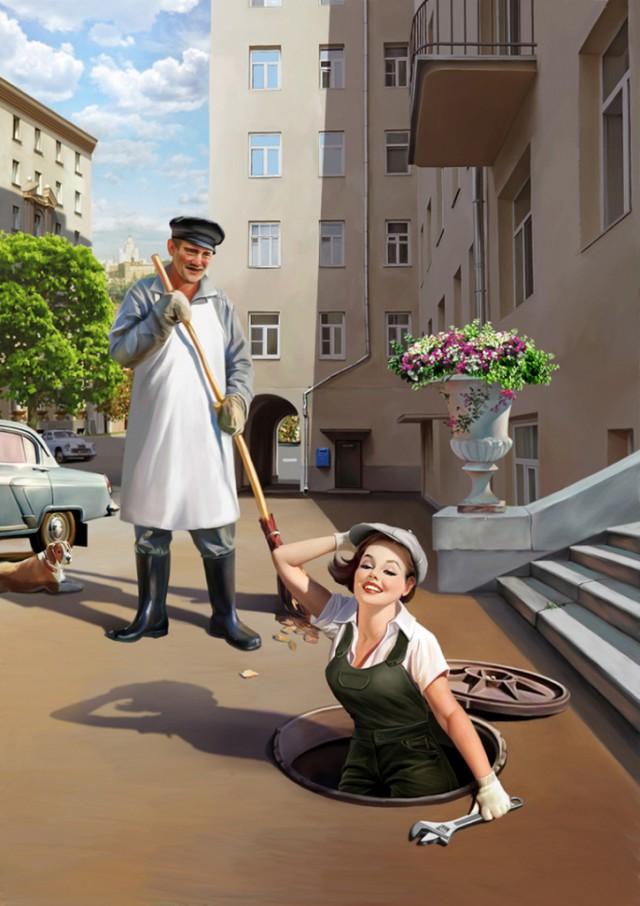 Pin-Up российских иллюстраторов