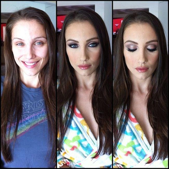 Порнозвезды и чудодейственная сила макияжа