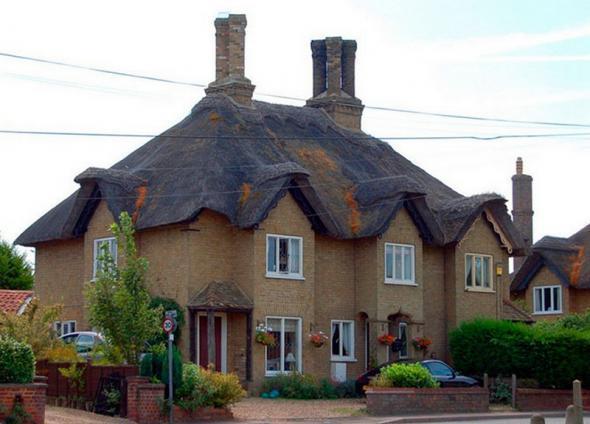 Соломенные крыши в Англии