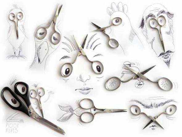 Интересные иллюстрации с предметами