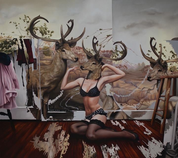 Необычные женские портреты художницы Эмили Бернс
