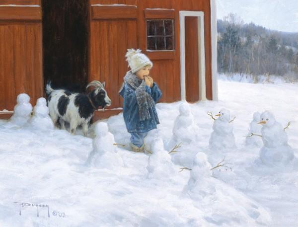 Зимние забавы художника Роберта Дункана