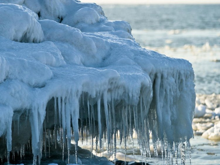 Ледяное искусство от природы