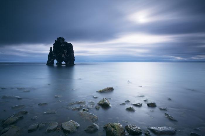 Хвитцеркур - скала на северо-западе Исландии