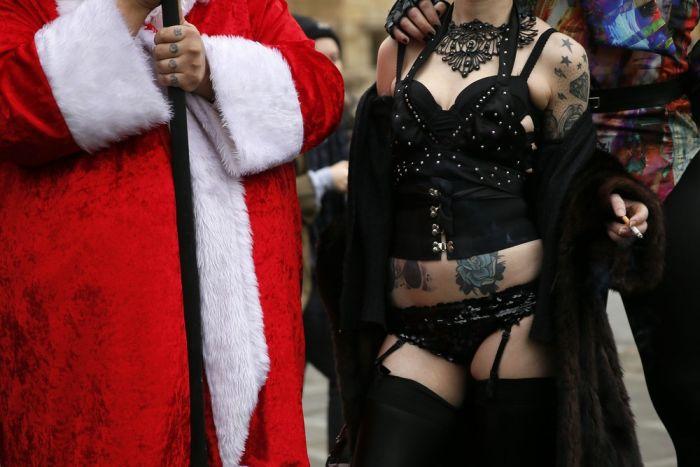 Акция протеста против запрета порно в Лондоне