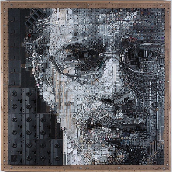 Портреты из необычных материалов