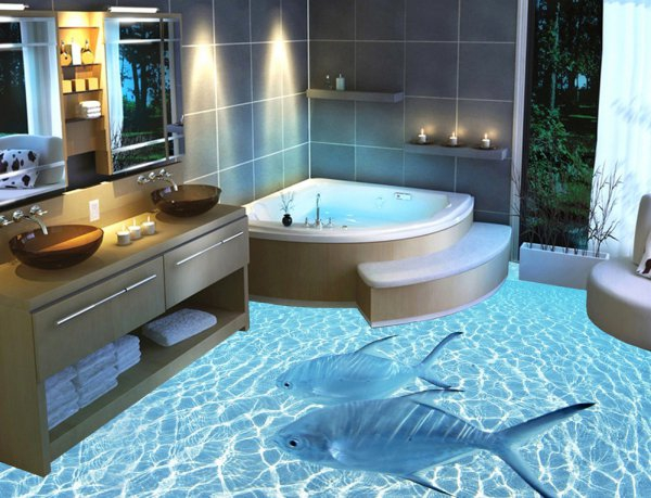 3D полы для вашей ванной