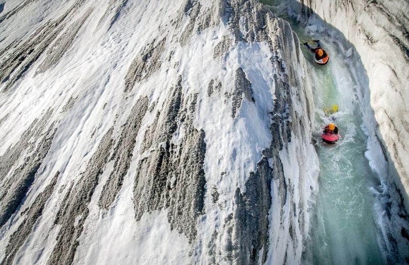 Бодибординг на крупнейшем леднике Европы
