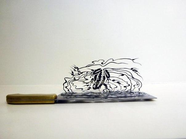 Художественная резьба по ножам от Ли Хунбо