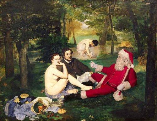 Санта-Клаус на известных картинах
