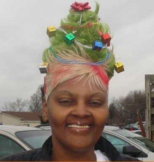 Необычные новогодние причёски