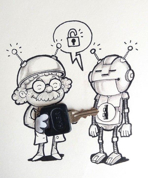 Про олю, как называются смешные рисунки карандашом
