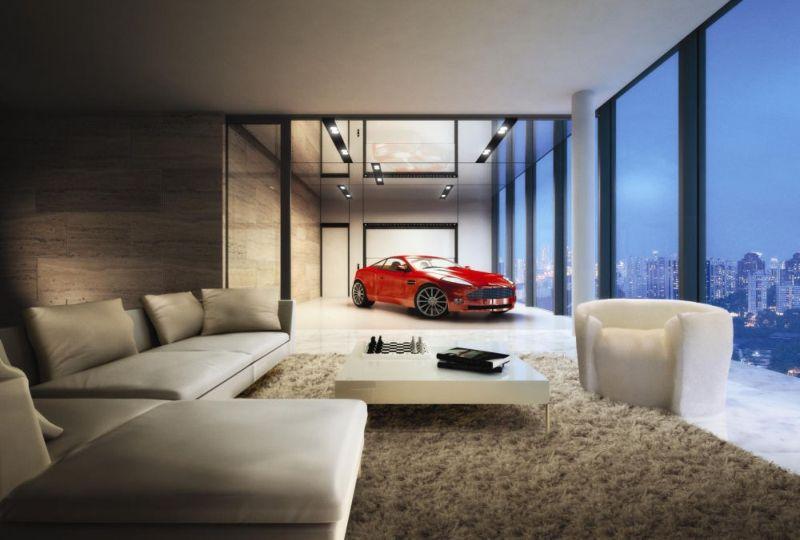 Парковка для машины на балконе