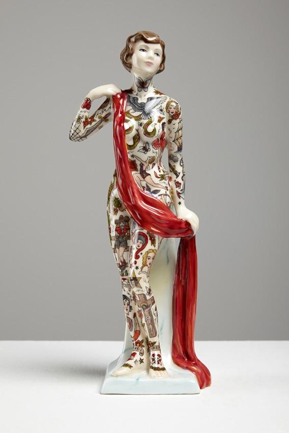 Татуированные керамические статуэтки