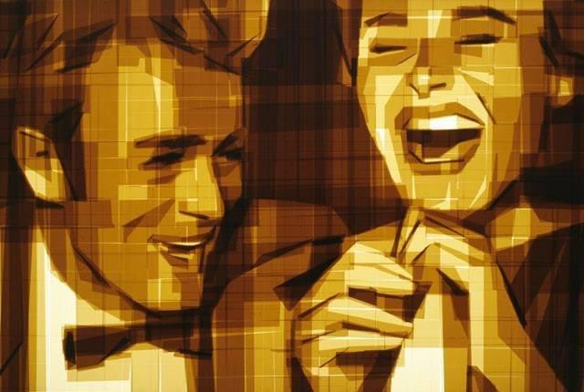 Картины из клейкой ленты