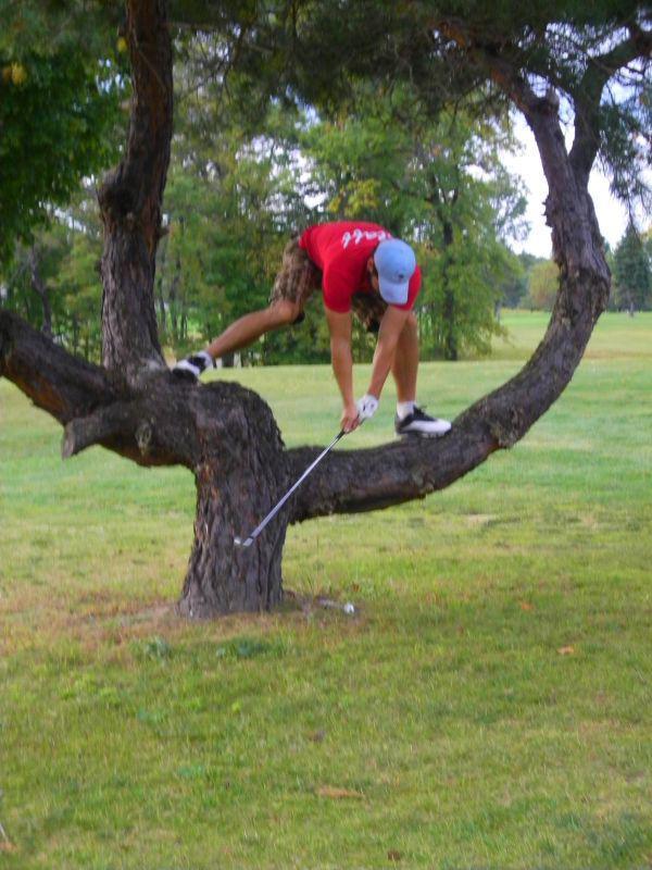 Соревнования по гольфу не проходят без происшествий