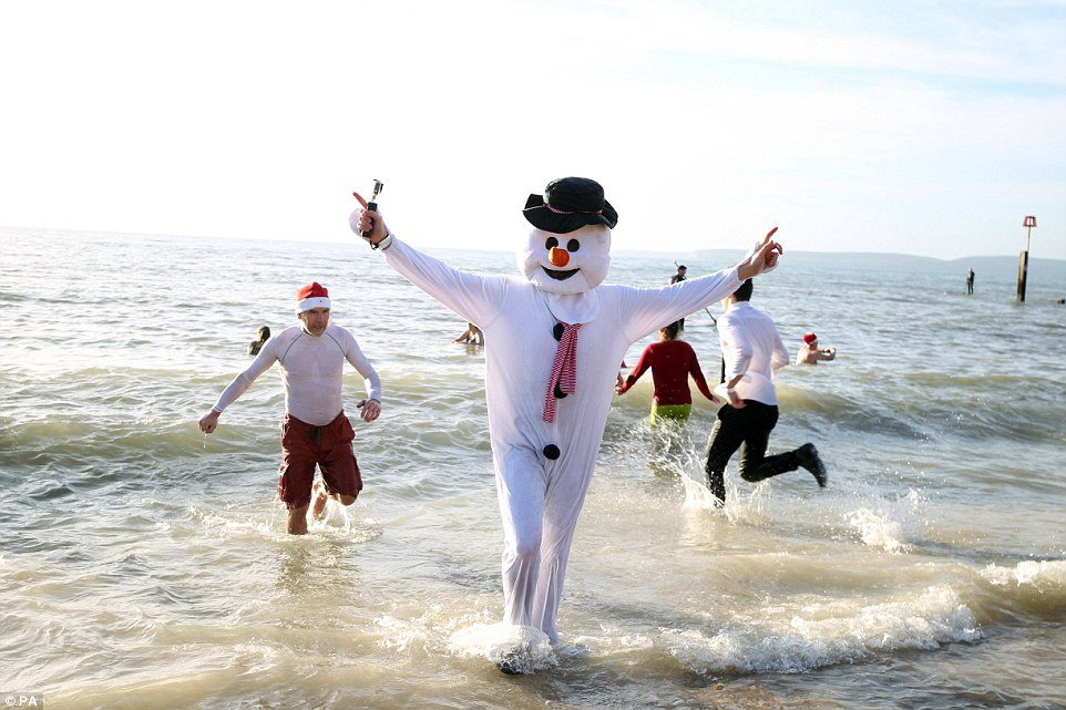 Рождественские заплывы в Англии