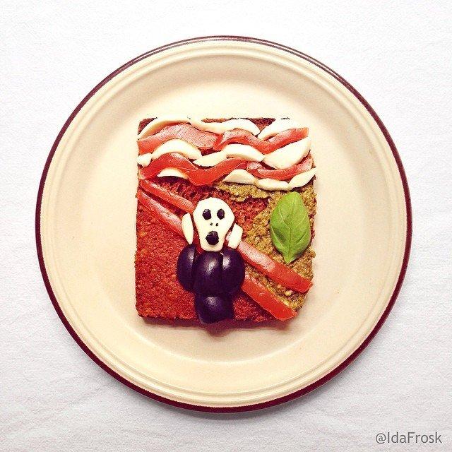 Картины из еды в Instagram