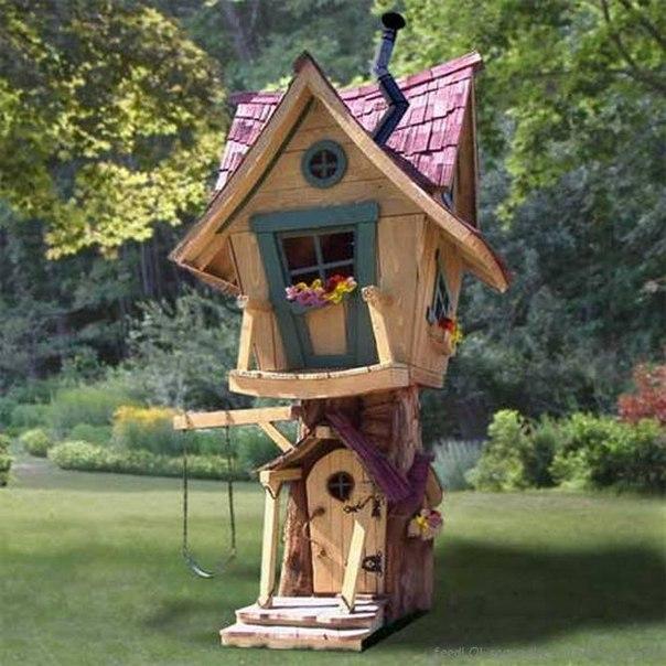 Детские домики на деревьях