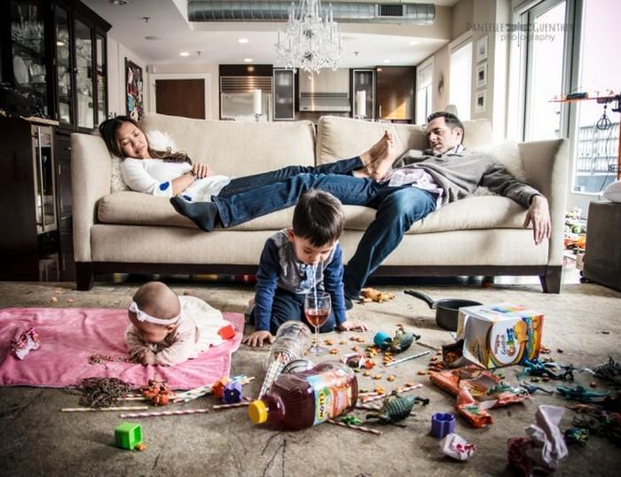 Повседневная жизнь родителей и их непоседливые дети