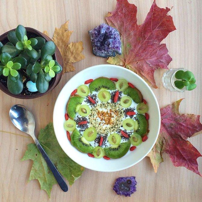 Рисунки-мандалы из здоровой пищи