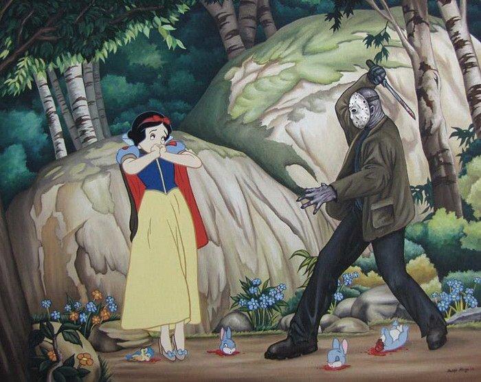Диснеевские принцессы и известные злодеи из фильмов
