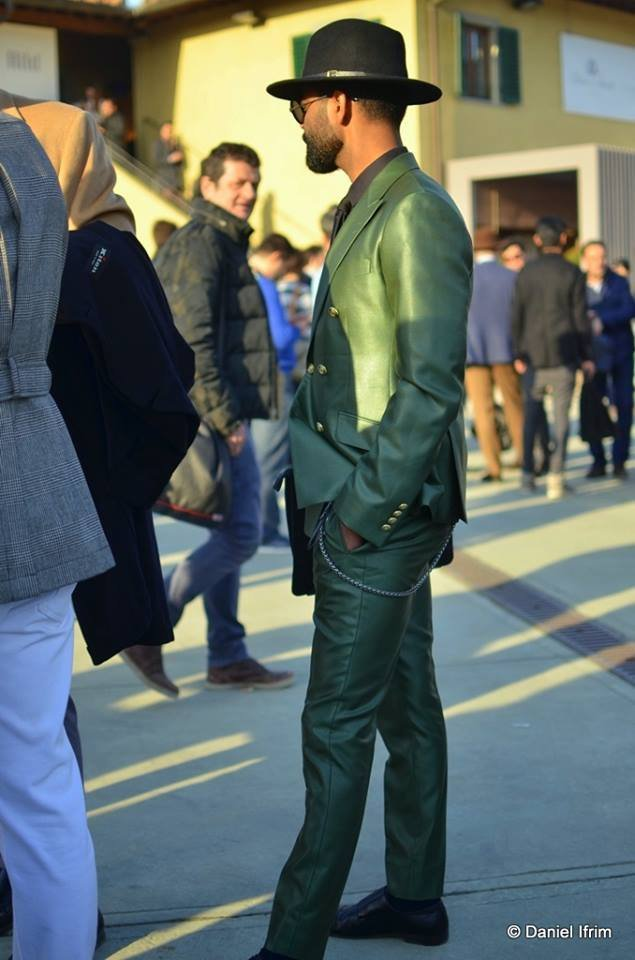 Итальянские модники на выставке Pitti Uomo