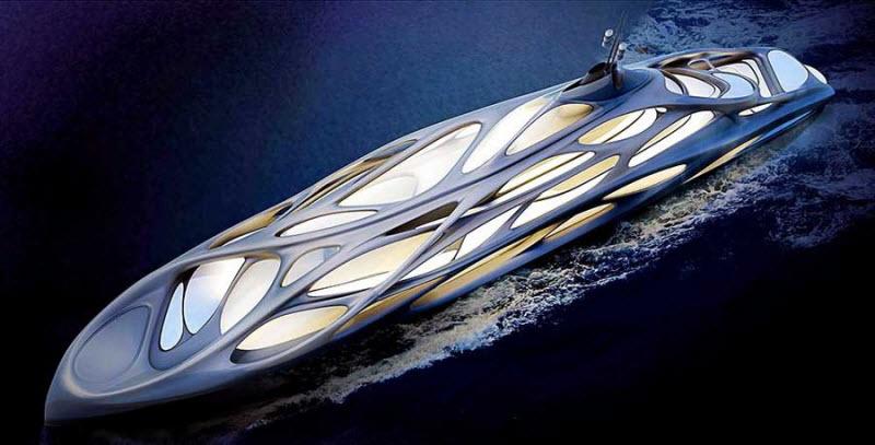 Футуристические яхты будущего