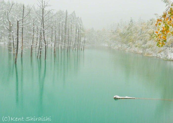 Уникальный голубой пруд на фотографиях Кента Шираиши