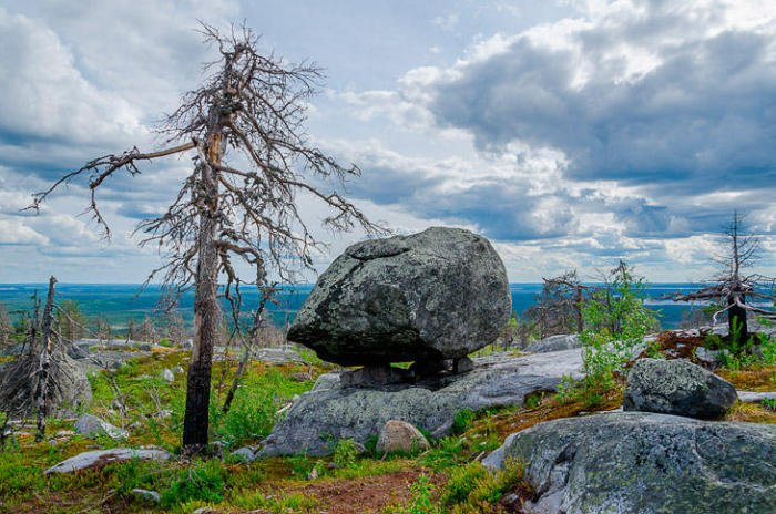 Удивительная гора Воттоваара в Карелии