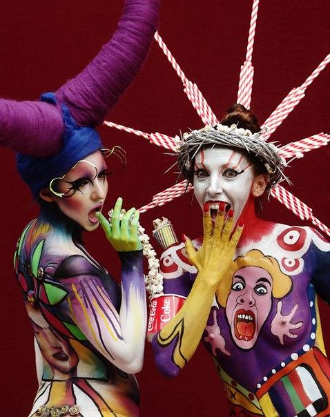Фото с международного фестиваля боди-арта в Австрии