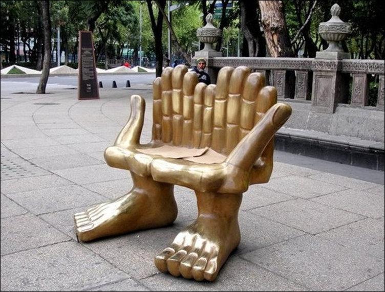 Необычные и оригинальные скамейки