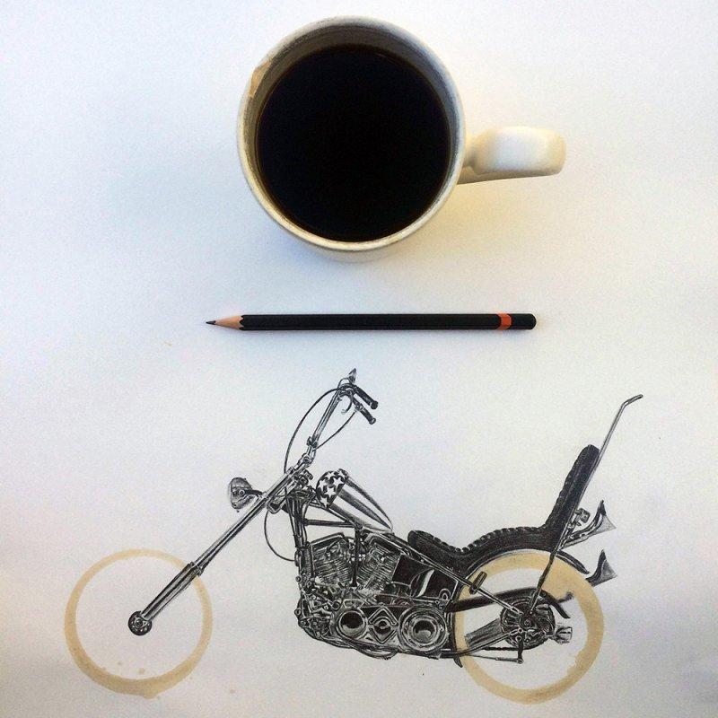 Отпечатки кофейной чашки