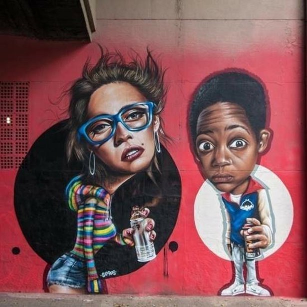 Рисунки уличных художников из разных стран мира