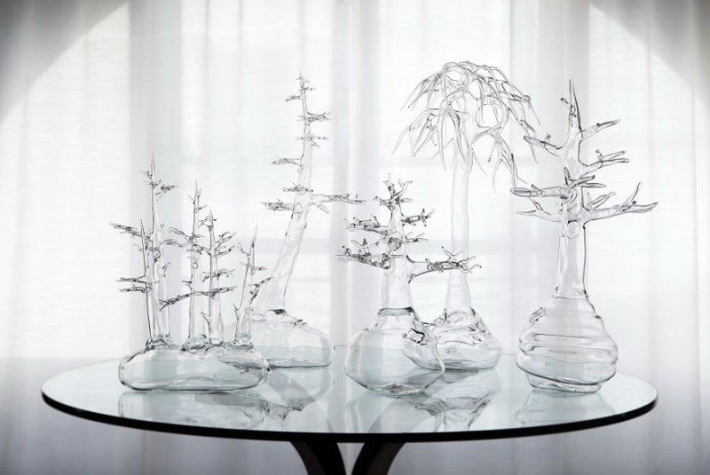 Скульптуры из стекла Симоне Крестани