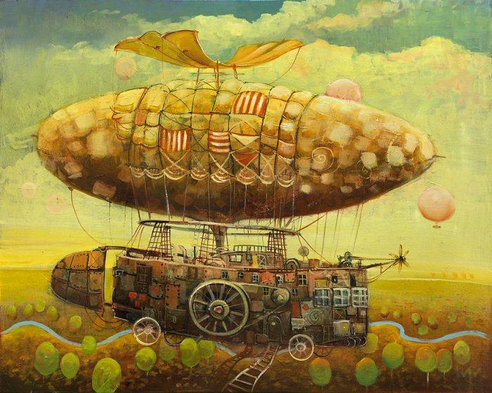 Транспортные средства в стиле сказки и стимпанка