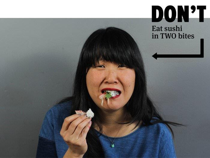 Едим суши и роллы правильно