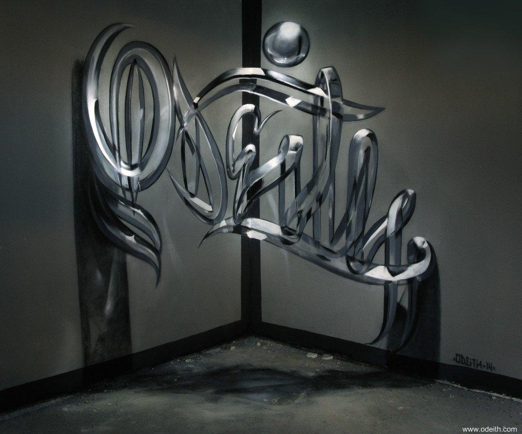 3D-граффити от Серхио Одейта