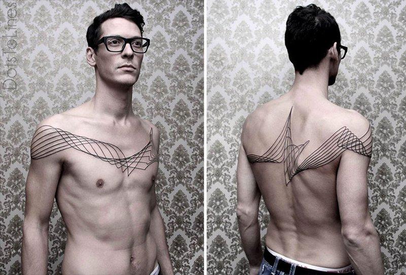 Уникальные геометрические татуировки