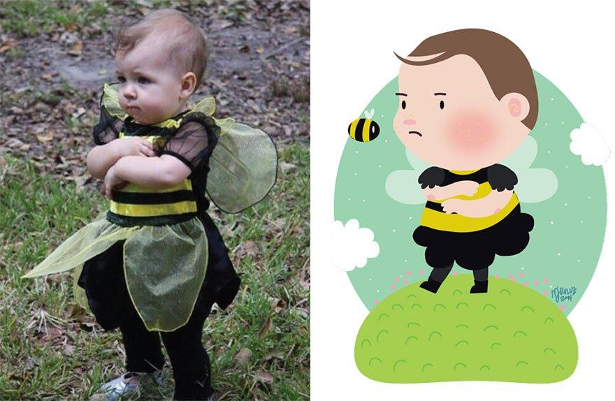 Забавные иллюcтрации к детским фотографиям