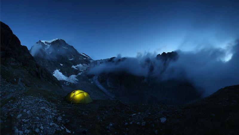 Горы, где палатка побывала за шесть лет
